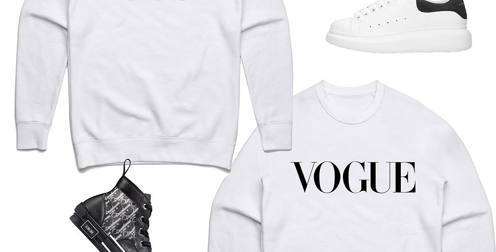 Vogue Sweat shirt (White)