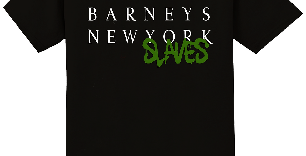 Barneys New slaves T shirt (Black/Green)