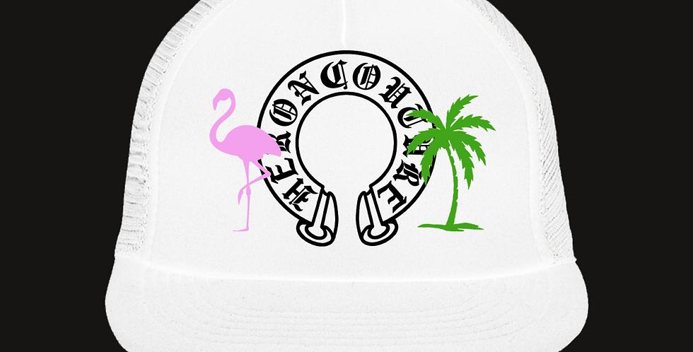 Paradise Trucker Hat (White)