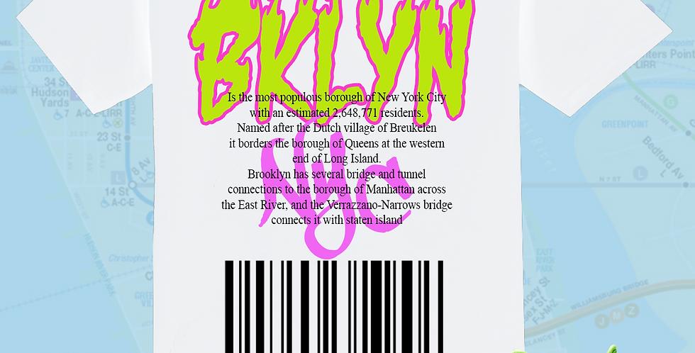 "Bklyn ""DNA"" T-shirt (White/neon)"