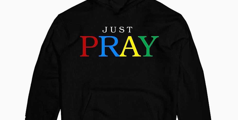 Just Pray hoodie (Black)