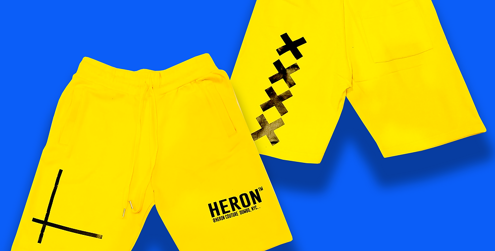 "Heron ""info"" shorts (canary yellow)"