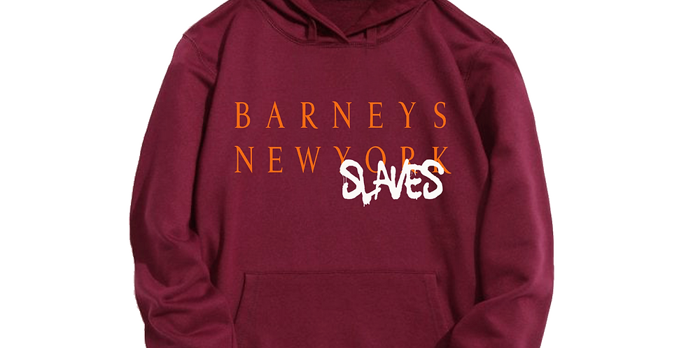 Barneys New slaves Hoodie (Burgundy)