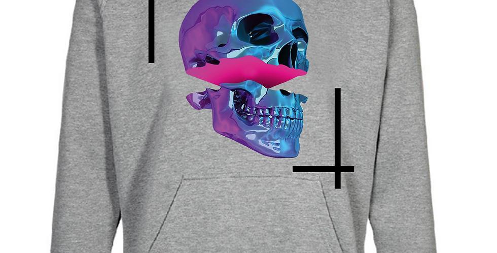 Pop skull hoodie (gray)