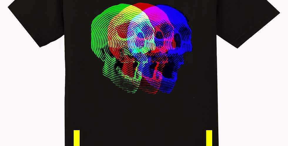 3d skull t-shirt (black)