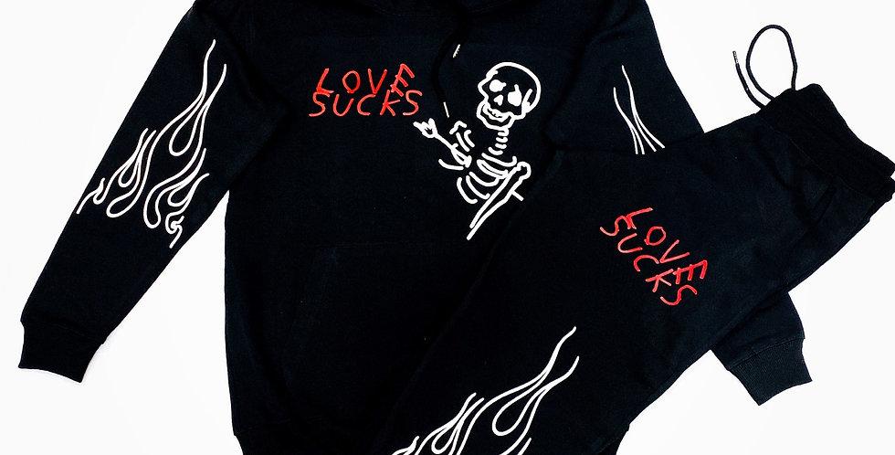 Love sucks Hoodie (Black)