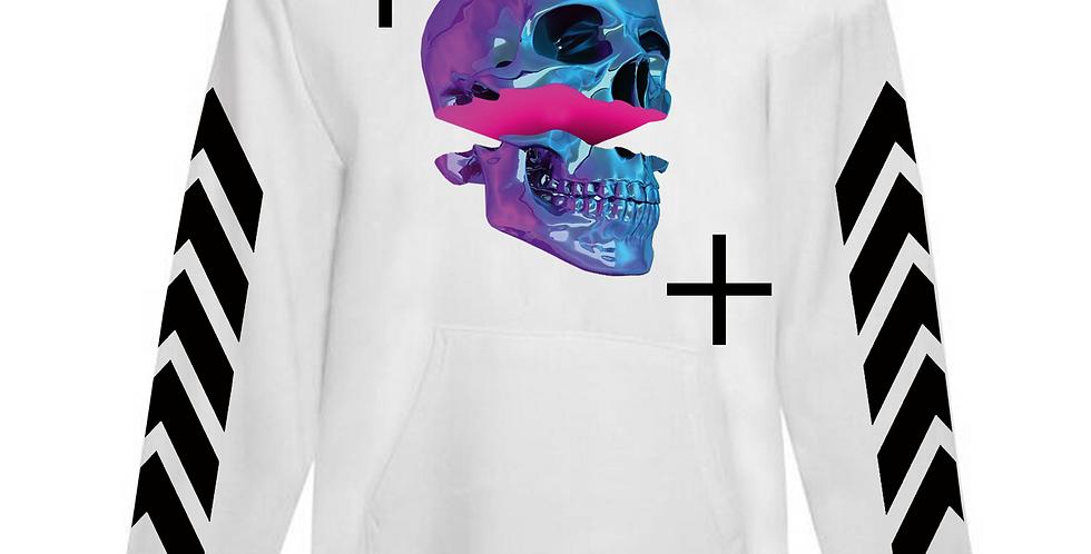 Chrome skull hoodie (white)