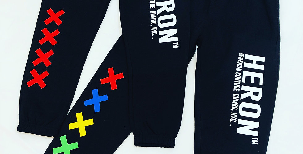 X marks the spot joggers (red x's)