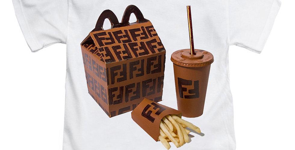 Kids fast food designer t-shirt