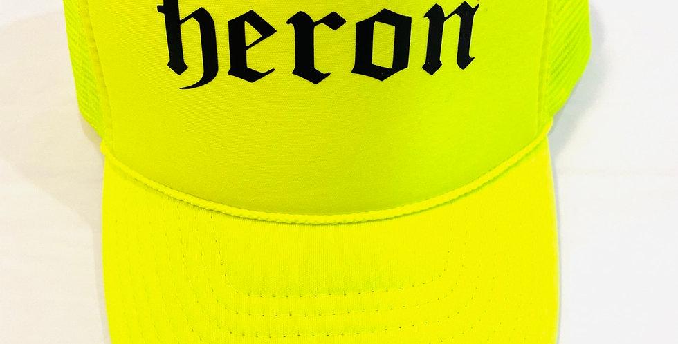 Heron Trade mark hat (neon)