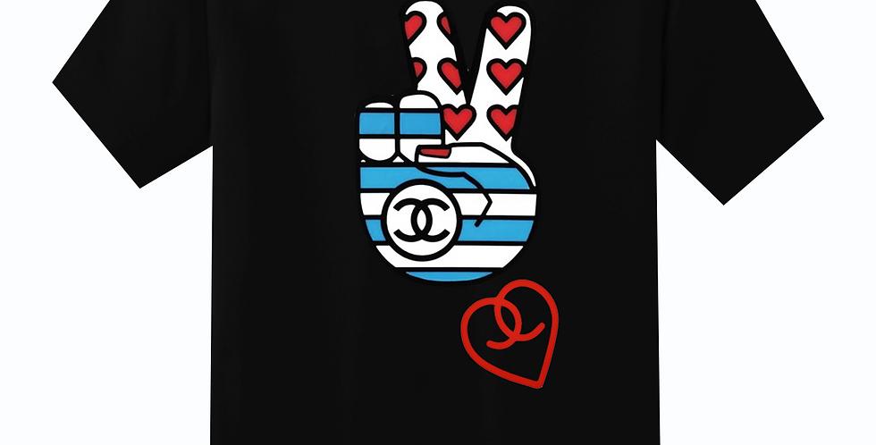 Peace & Love T-shirt (Black)