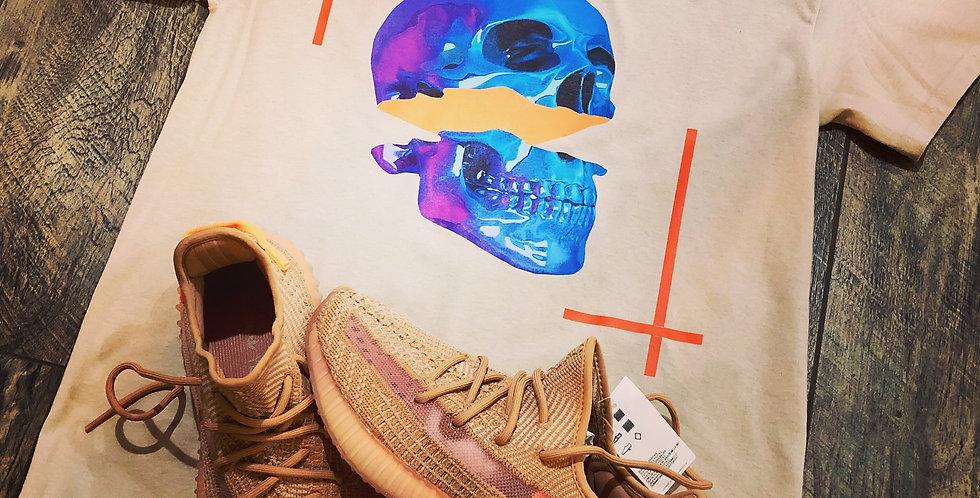 Clay skull tshirt (tan)