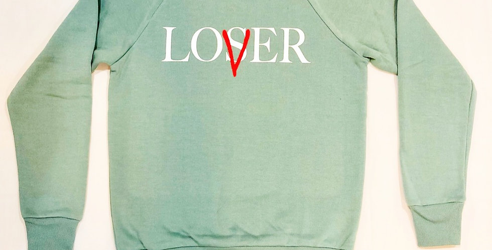 Lovers crew neck sweater (baby teal)