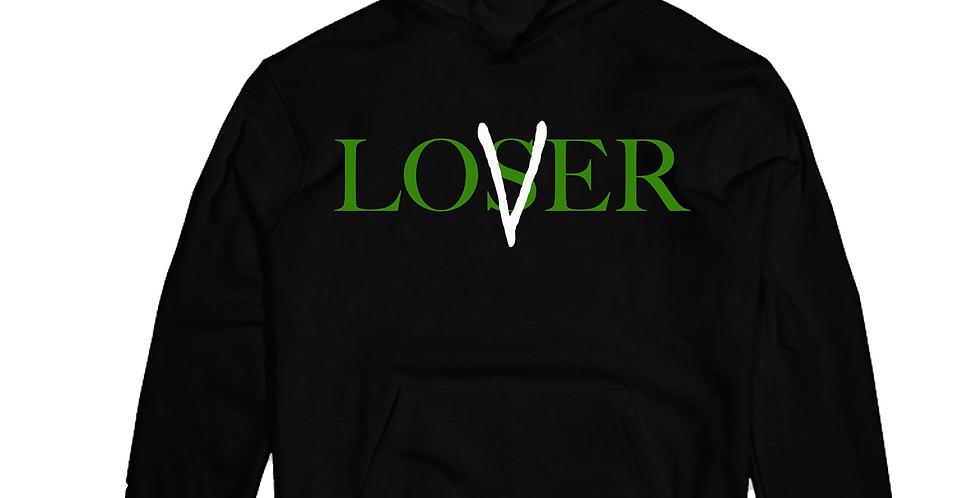 Lover Vs loser Hoodie (Black/Pine)