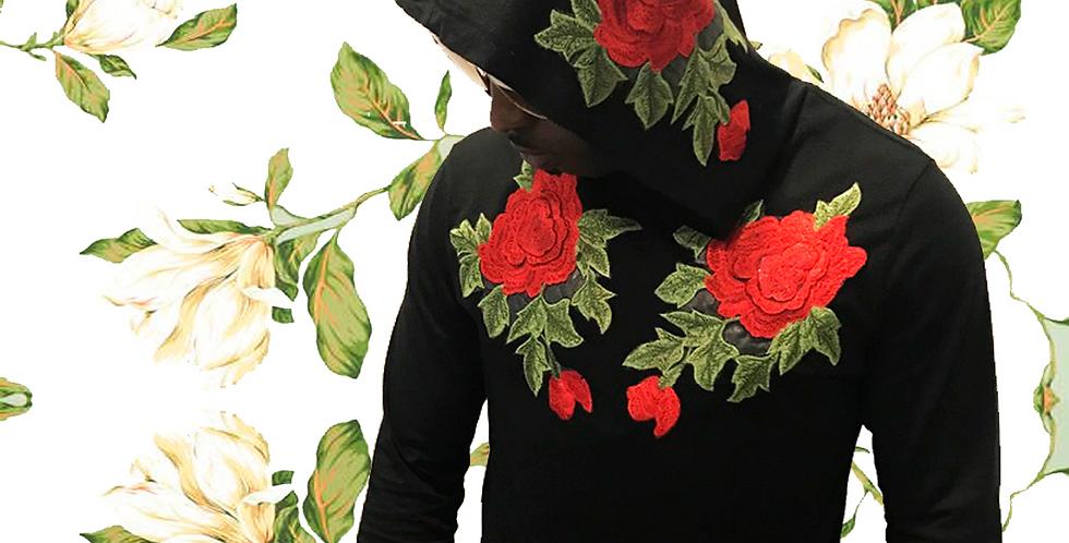 Rose hoodie (Black)