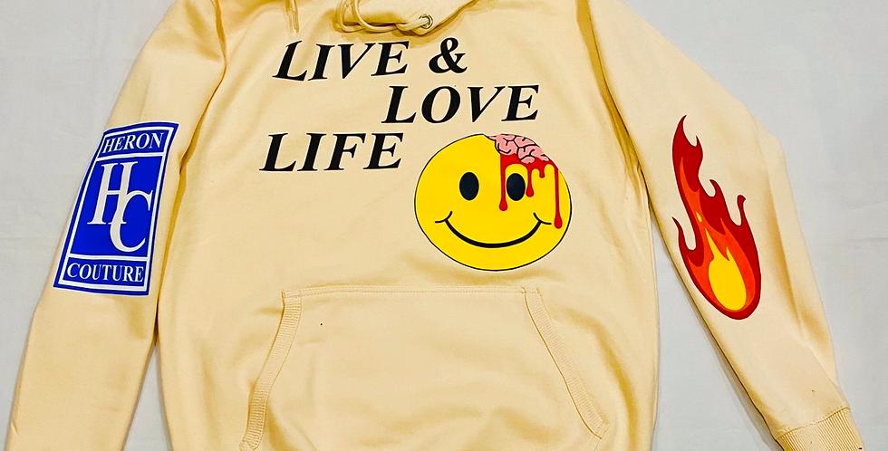 Live & Love Life Hoodie (off white)