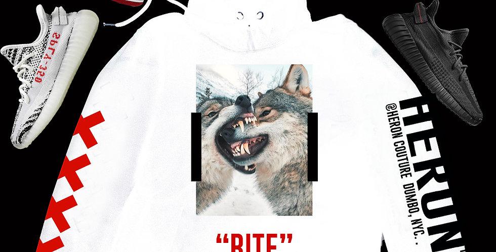 Wolf On wolf Hoodie (White)