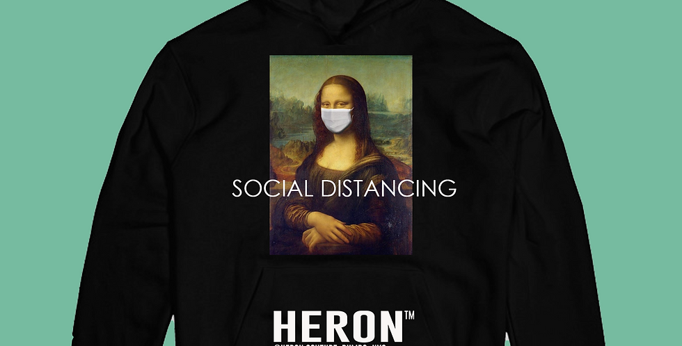 Social Distancing Hoodie (Black)
