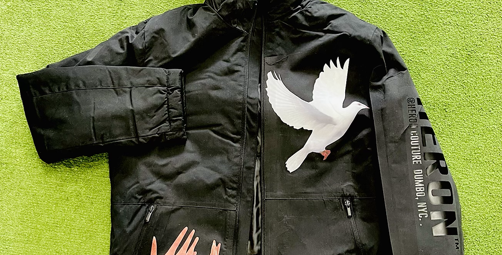 Dove Release Parka Jacket (Black)