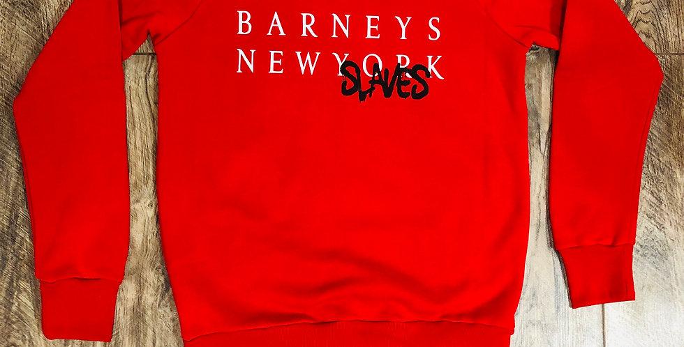 New slaves crew neck sweater (red)