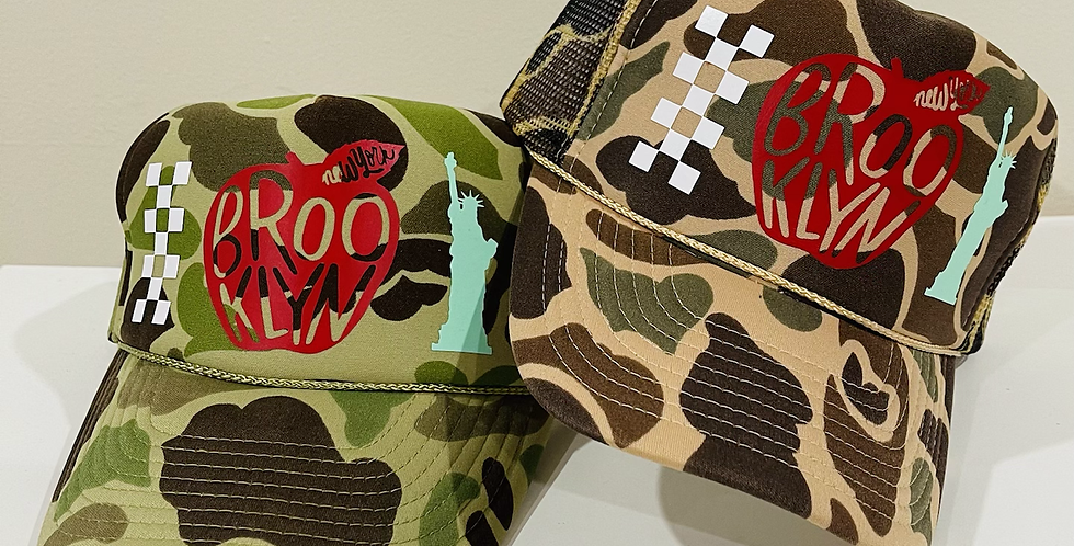 Big Apple Bk Trucker Hats (Camo)