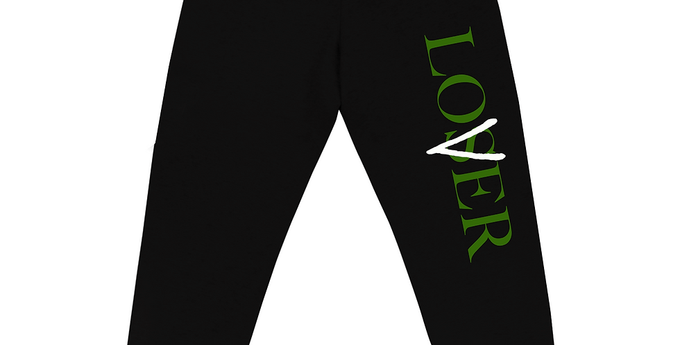 Lover Vs loser joggers (Black/Pine)