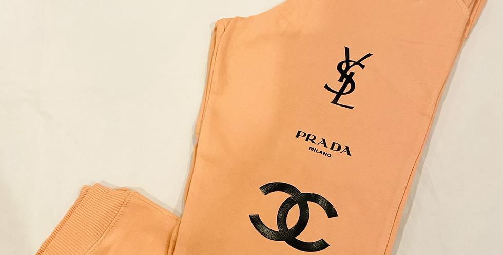Fashion Addict Joggers (Peach)