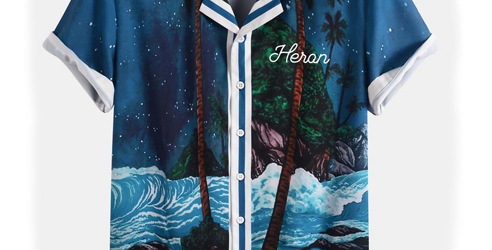 "Heron ""Dark Beach"" Shirt"