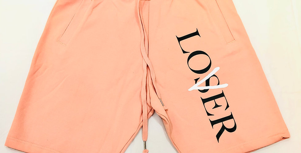 Loser vs Lover shorts (salmon)