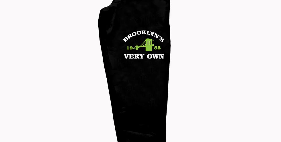 Brooklyn's Very Own Joggers (Black/Neon)