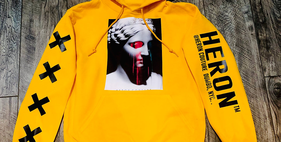 Abstract tears hoodie (yellow)