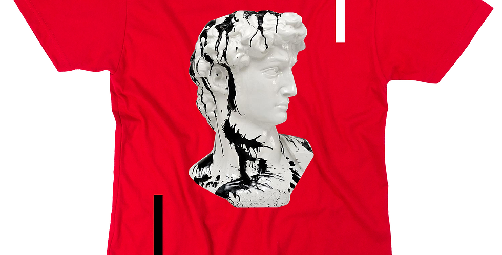Black ink T-shirt (red)