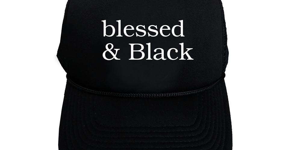 Blessed & Black Trucker Hat (Black)