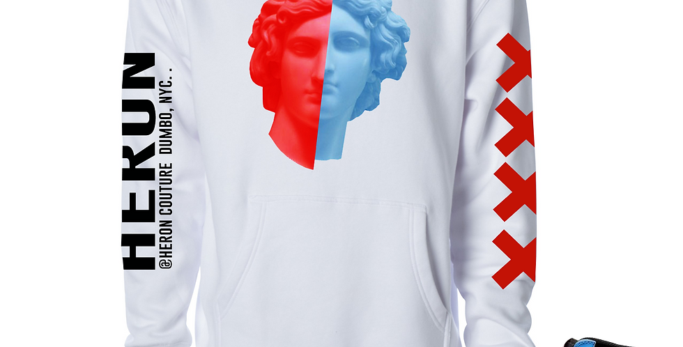 2 Face Hoodie (White)