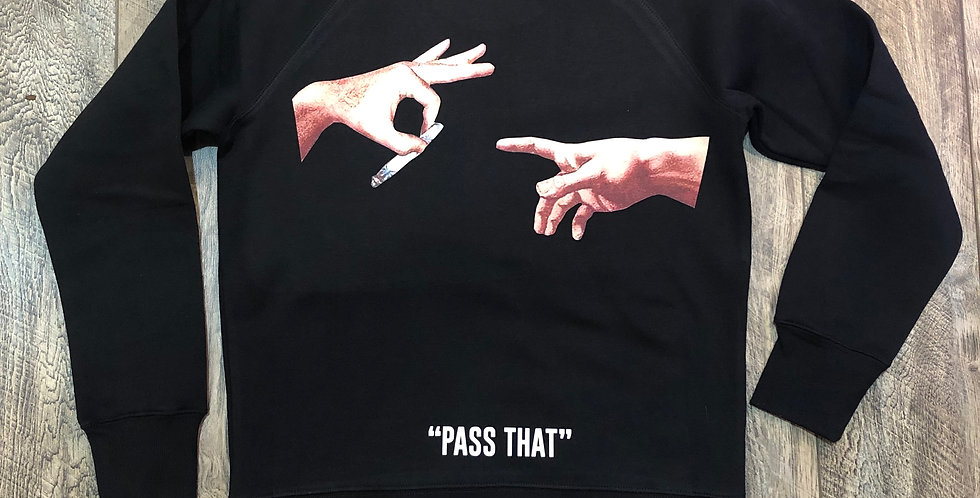 """Pass that"" crew neck sweater"
