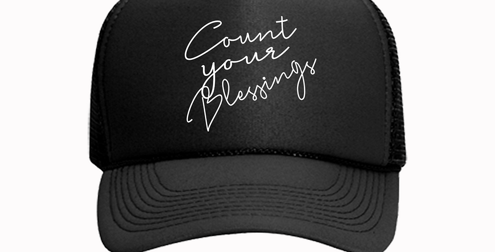 Count Your Blessings Trucker Hat (Black)