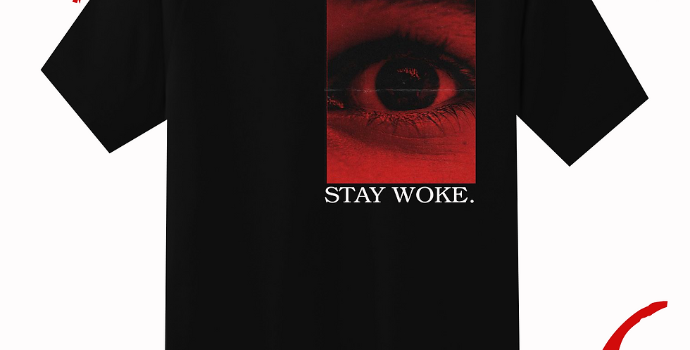 Stay woke T-shirt (Black)