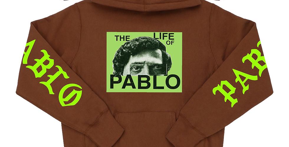 Pablo 2.0 hoodie (chocolate/neon)