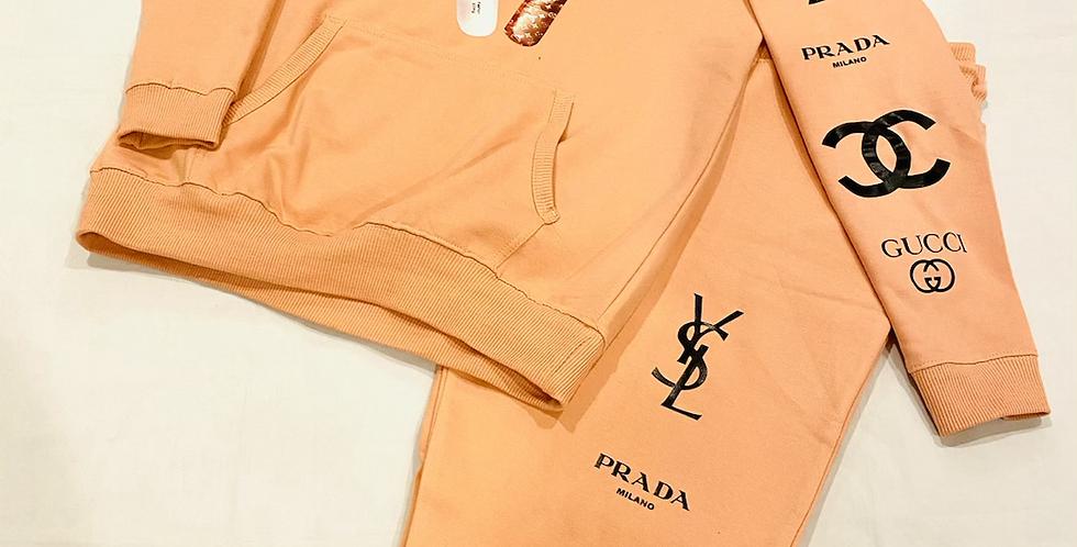 Fashion Addict Hoodie (peach)