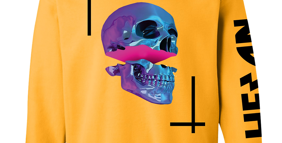 "Pop skull crew neck ""Yellow"""