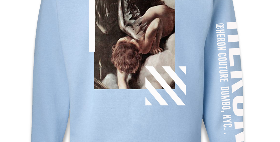 Fallen Angels Crew neck Sweater (Baby Blue)