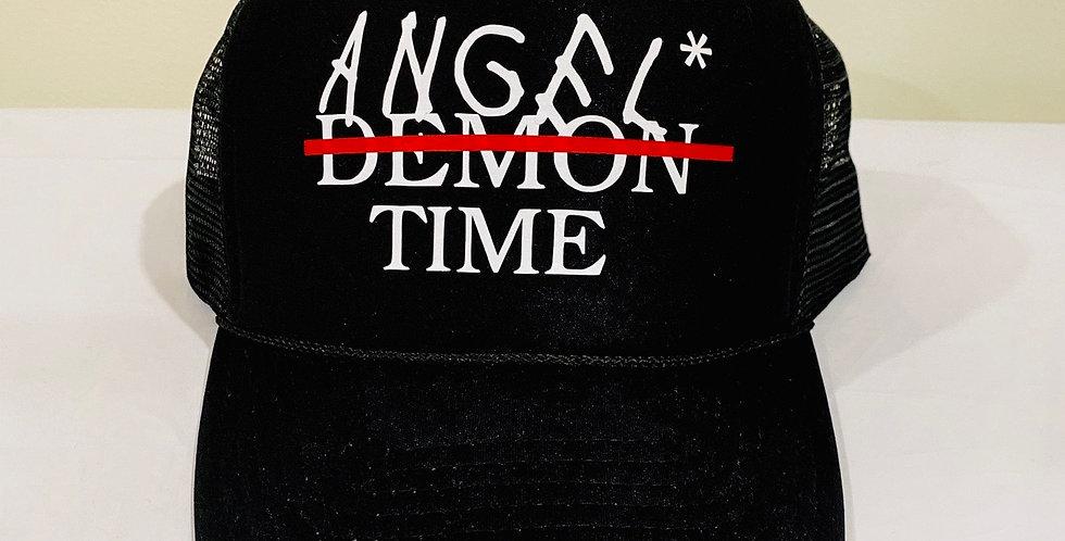 """Angel timing"" Trucker hat (Black)"