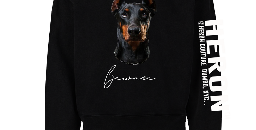 Beware Of Dog Crew Neck Sweater (Black)