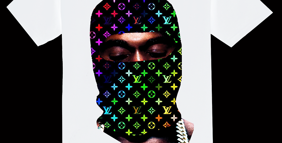 Ye mask T-shirt (rainbow)