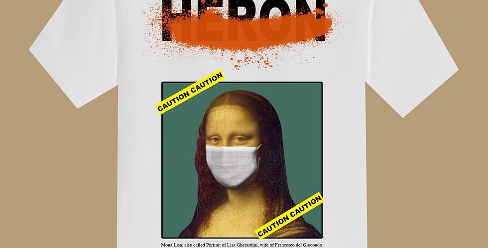 "Mona Lisa ""caution"" T-shirt"