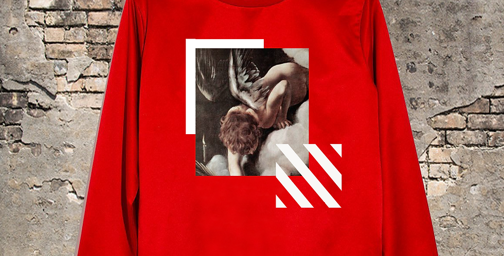 Fallen Angel crew neck (red)