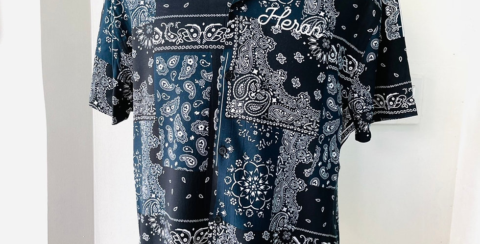 Paisley Shirt (Black/Blue)