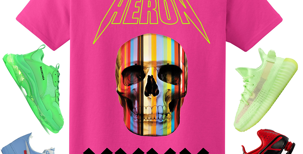 All star Skull T-shirt (pink)