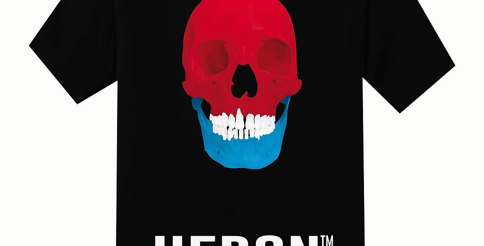 Tri-colored Skull T-shirt (Black)