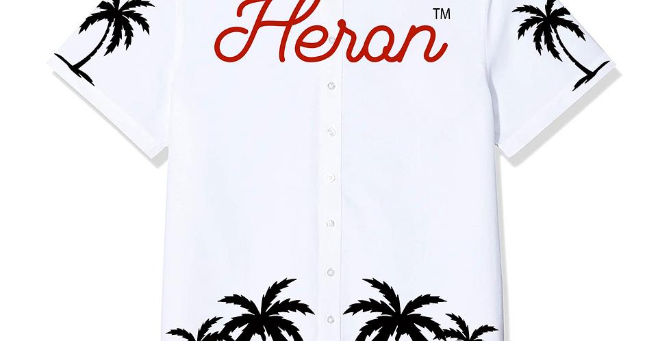 """Heron """"Cartel"""" Shirt (White, Red & Black)"""
